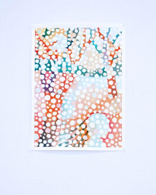"""Study for a Snowfall."" Watercolour. 12 1/4""x9 1/4"". 2019."